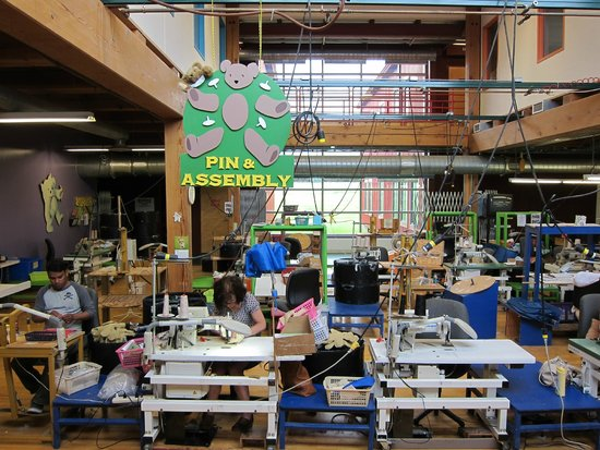 Vermont Teddy Bear Company : Actual bears being sewn by hand