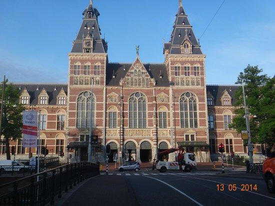 Rijksmuseum Amsterdam : Fachada da avenida
