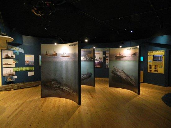 Michigan Maritime Museum: The museum main exhibit room