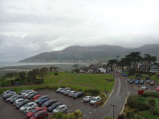 Slieve Donard Resort and Spa: view from hotel room front 3rd floor early may