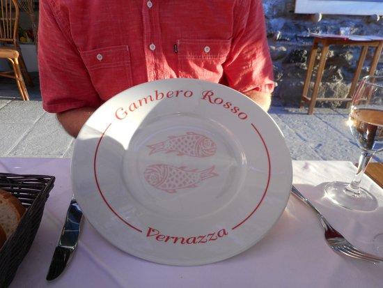 Ristorante Il Gambero Rosso: Piato (plate)