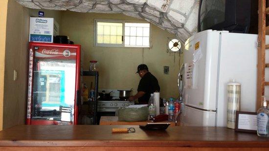 Burritos Gorditos: Kitchen area