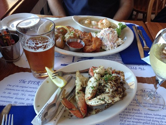 Pier Market Seafood Restaurant: Così così