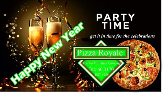 Pizza Royale: NEW YEAR ADDS