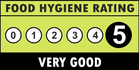 Pizza Royale: 2 YEARS HYGIENE RATING 5