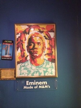 Ripley's Believe It or Not!: eminem made out of m&ms