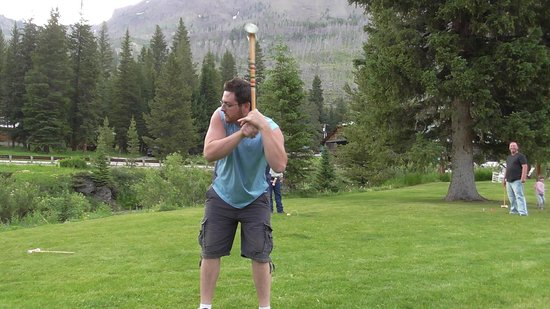 Grizzly Lodge: Croquet on the green (thanks Gardner!)
