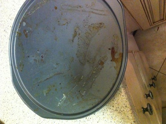 Ocean Breeze East: This one takes the cake!! A dirty pan put back in the cabinet!