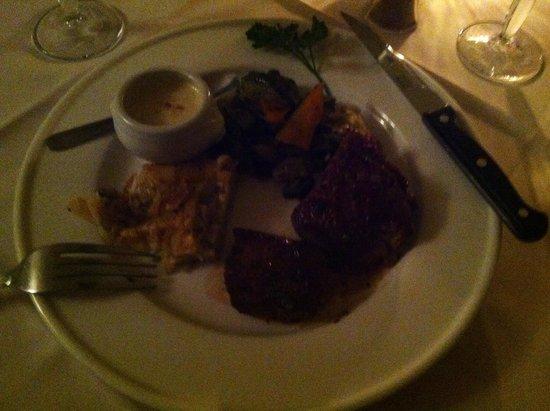 La Mandoline : Delicious beef with Roquefort sauce!