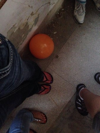 Waverly Hills Sanatorium : Balls are everywhere to give the ghosts something to do:)
