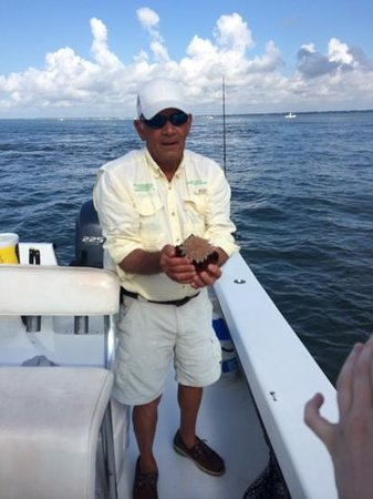 Morningstar Marina at Golden Isles - Boat Rentals : Captain Sonny with a Jelly Ball Jelly Fish