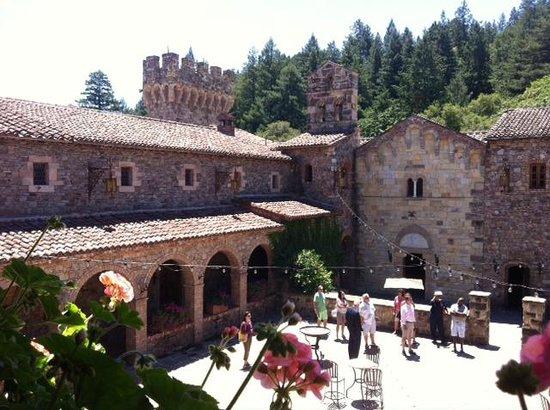 Castello di Amorosa: Vista do jardim interno