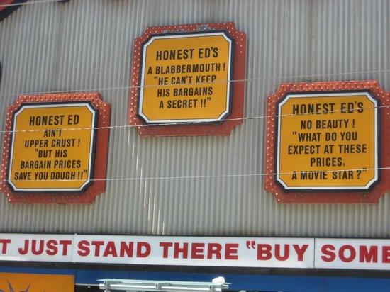 Honest Ed's: Ed-isms (1)