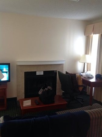 Sonesta ES Suites Somers Point: Fireplace that doesn't work
