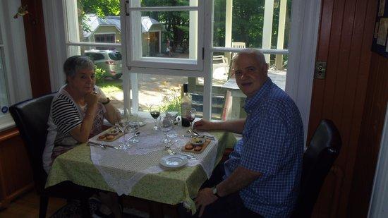 Au Clos Rolland, Couette & Café : Souper en tete a tete