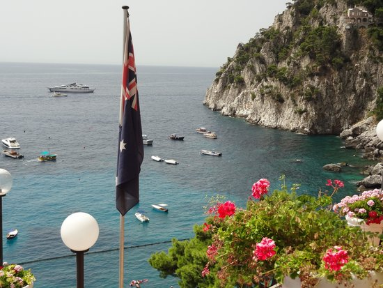Hotel Weber Ambassador Capri: view from the private patio