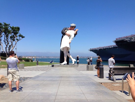 Marriott Marquis San Diego Marina: It's a short walk over to the USS Midway and this great statue by Seward Johnson.
