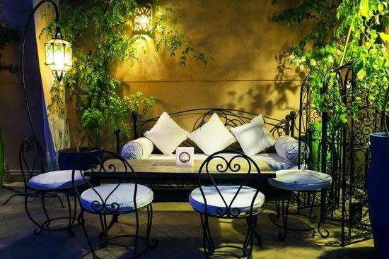 La Table Al Badia at Riad Al Badia: The Pergola Lounge on the Terrace