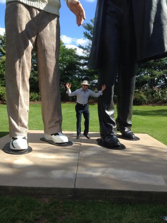 Grounds For Sculpture: Abe Lincoln is a huge figure in history, but physically much larger than life here!