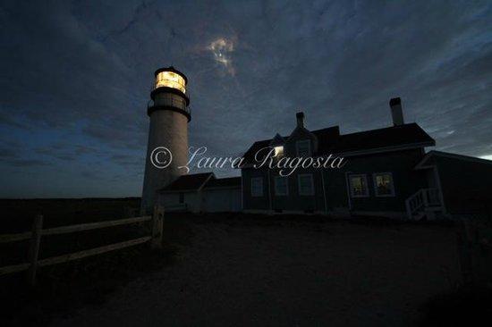 Highland Light: moonlight