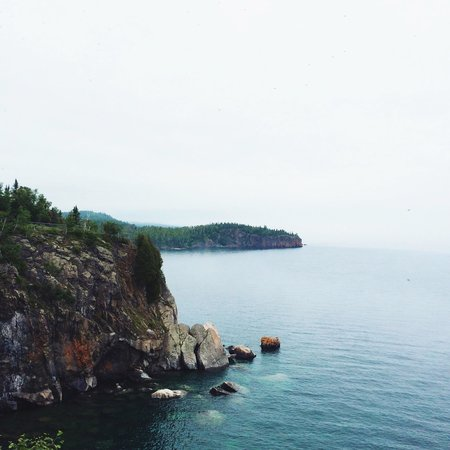 Split Rock Lighthouse: View facing north at lighthouse