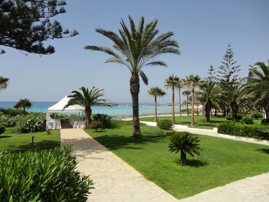 Nissi Beach Resort: Sea View from the Hotel Grounds