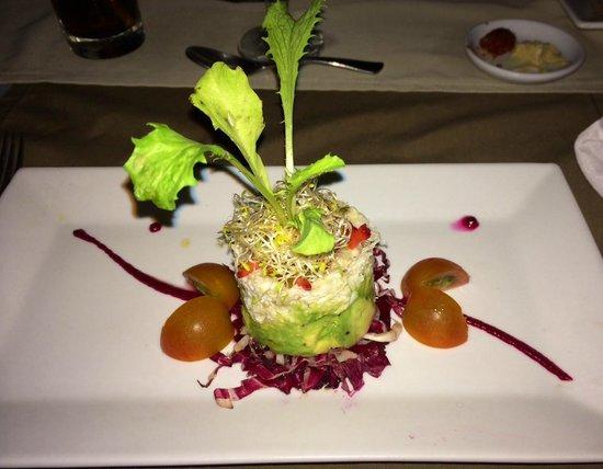 The Royal Corin Thermal Water Spa & Resort: Crab Salad Hubby