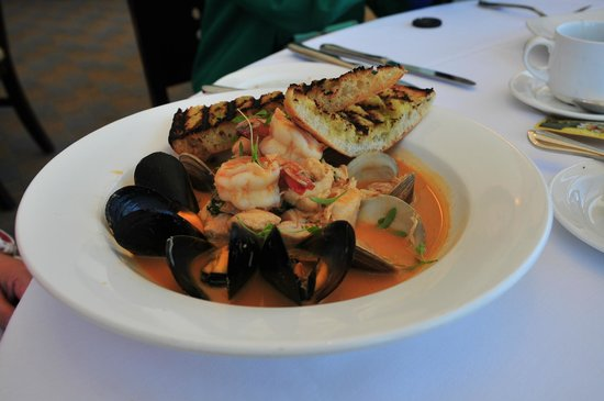 "Sutro's - ""Thai Style"" Bouillabaisse* with shrimp, clams & mussels"