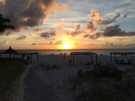 Club Med Turkoise, Turks & Caicos: gorgeous sunset over Grace Bay