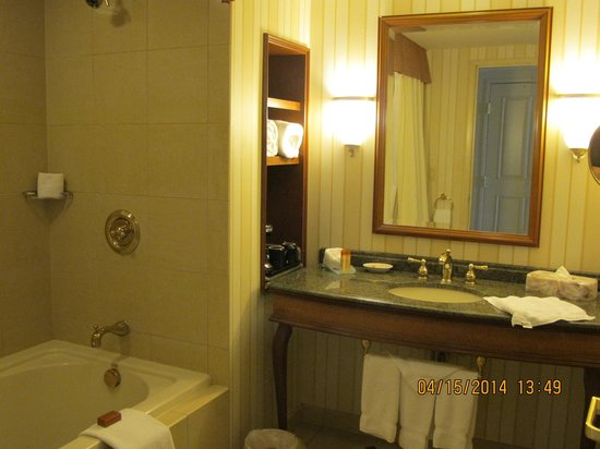 Hollywood Casino St. Louis Hotel: nice sized bathroom