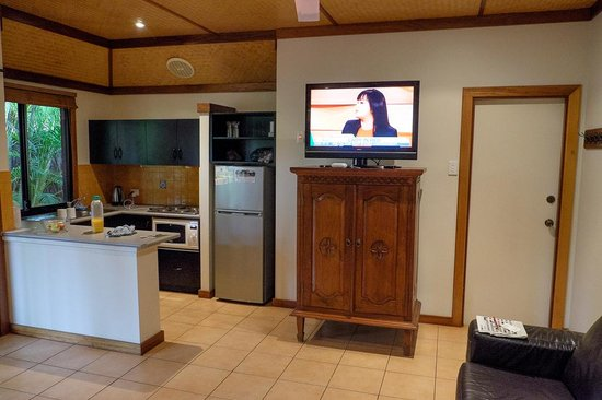 Bali Hai Resort & Spa: TV placed on old cabint