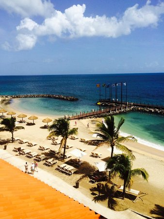70dc1b33c8ee0e Sandals Grenada Resort and Spa  Beach view from the Pink Gin Beachfront  Honeymoon Penthouse Club