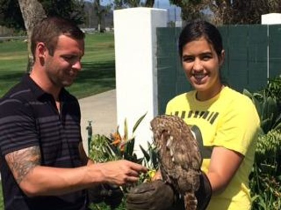 Omni La Costa Resort & Spa: Jason with my oldest daughter and Gadget the Owl