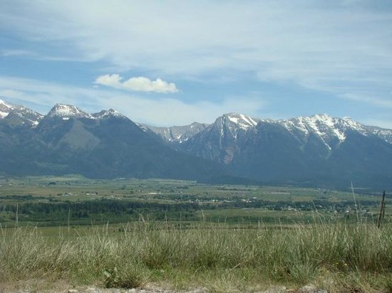 National Bison Range: One of the views along the driving trail (graveled).