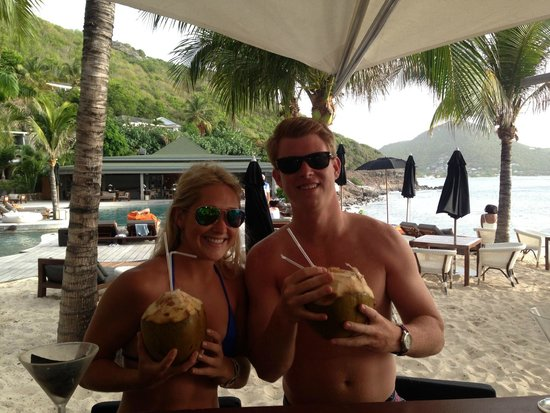 Christopher St Barth: Fresh coconut drinks