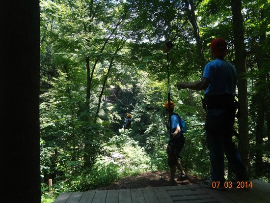 Soaring Cliffs Zip Line Course: Through the trees