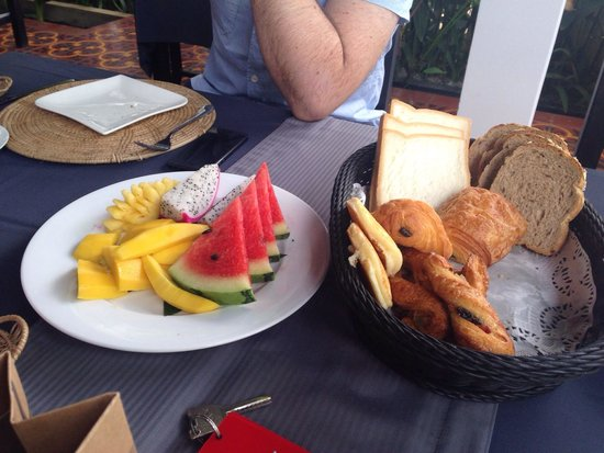Mulberry Boutique Hotel : Delicious breakfast at the mulberry