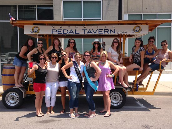 Nashville Pedal Tavern: Our group plus another bachelorette party and a ladies weekend group