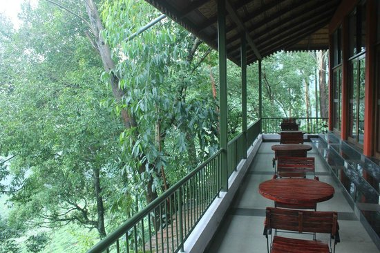 Tea Valley Resort: restaurant balcony