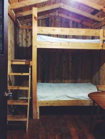 Roxys Gas & Variety Cabins & Tent Sites: Inside the Cabin (2 Double Bunk Beds)