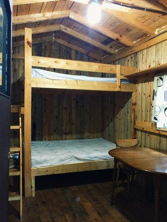 roxys gas u0026 variety cabins u0026 tent sites inside the cabin 2 double bunk