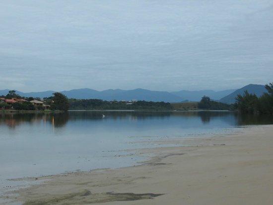 Barra de Ibiraquera Beach: the view