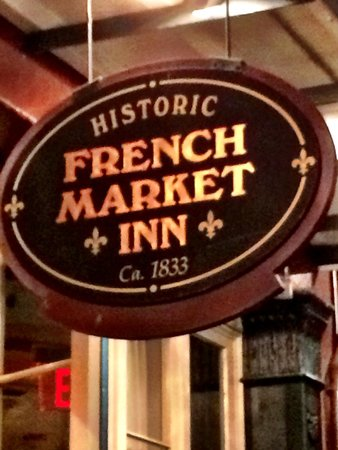 French Market Inn: front sign