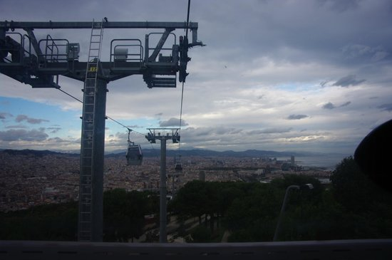 Parc de Montjuic : Gondola up to the top