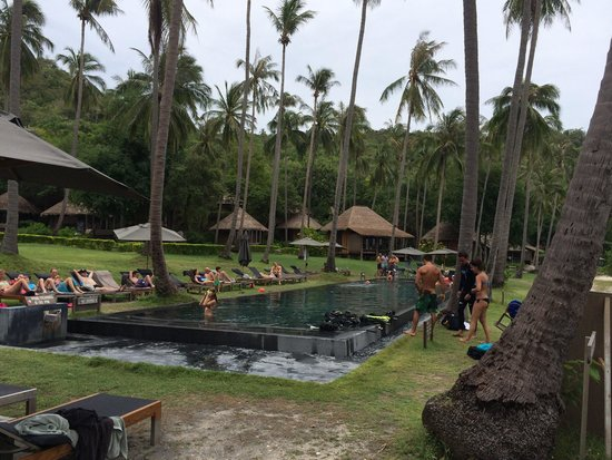 Haadtien Beach Resort: The pool and jacuzzi