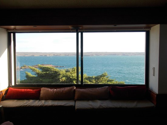 Villa El Chocon, Αργεντινή: Vista desde el lobby
