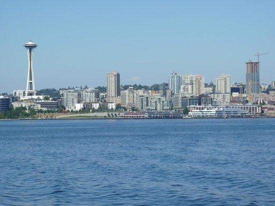 Seattle Skyline As We Turn Towards Bainbridge Island