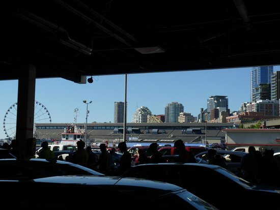 Washington State Ferries: Cars, Pedestrians, Cyclists, Motorcycles Waiting For The Ferry