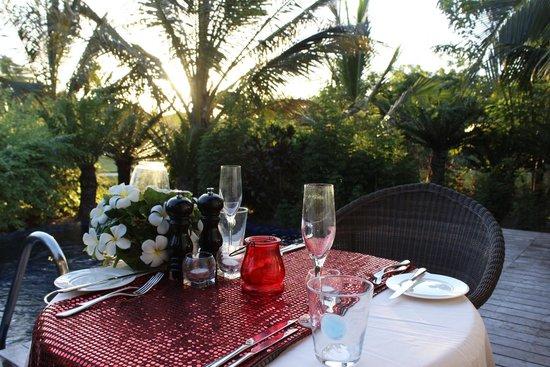 The Residence Zanzibar: Cena romántica en la villa