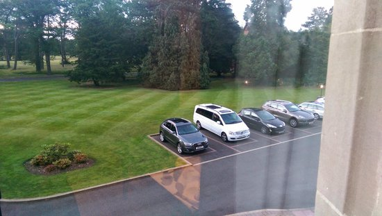 Rockliffe Hall: View from Raine Suite - Car Park View !